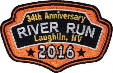 Embroidered 2016 Laughlin River Run Orange Plaque Event Patch