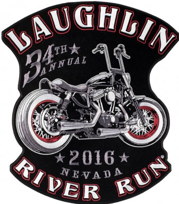 Sew On 2016 Laughlin River Run Vintage Motorcycle Event Patch