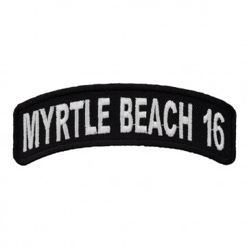2016 Myrtle Beach White Rocker Sew On & Iron On Event Patch