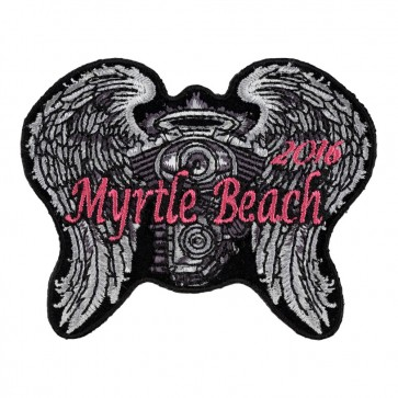 2016 Myrtle Beach Angel Wings & Engine Iron On Event Patch