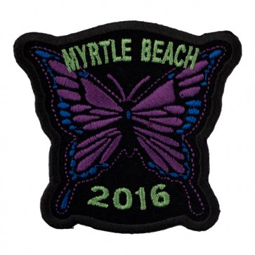 2016 Myrtle Beach Purple Butterfly Sew On Event Patch