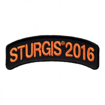 Orange Rocker Sturgis 2016 Rally 76th Anniversary Patch