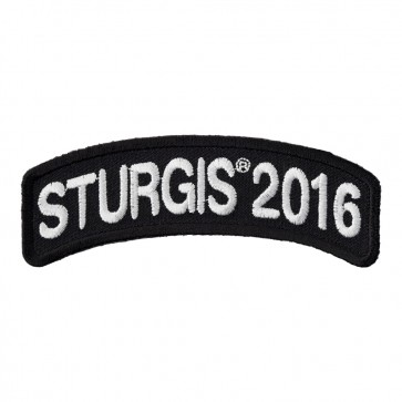 76th Annual Sturgis Motorcycle Rally White Rocker Event Patch