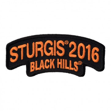 2016 Sturgis Black Hills Rally Orange Rocker Sew On & Iron On Event Patch