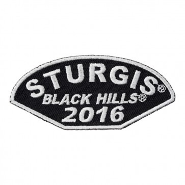 2016 Sturgis 76th Annual Black Hills Rally Half Moon White Event Patch
