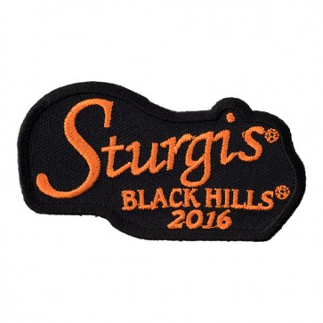 76th Anniversary Sturgis Motorcycle Rally Orange Script Event Patch