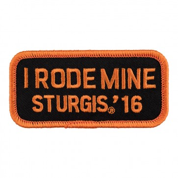 2016 Sturgis Motorcycle Rally I Rode Mine Orange Iron On Event Patch