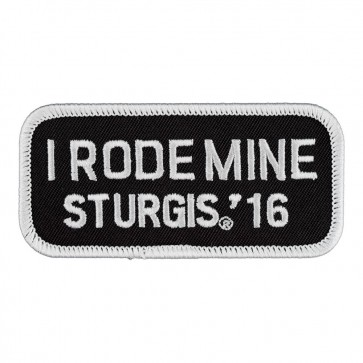 76th Anniversary Sturgis Motorcycle Rally I Rode Mine White Event Patch