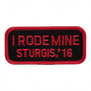 Embroidered 2016 Sturgis Motorcycle Rally I Rode Mine Red Event Patch