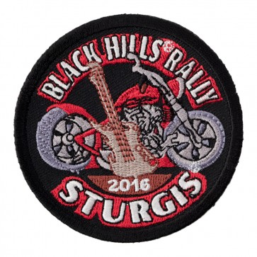 2016 Sturgis Black Hills Rally Guitar & Motorcycle Embroidered Event Patch