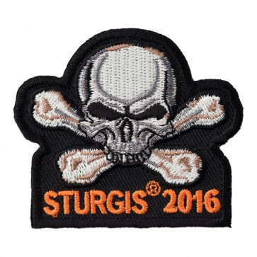 2016 Embroidered Sturgis Motorcycle Rally Skull & Crossbones Event Patch