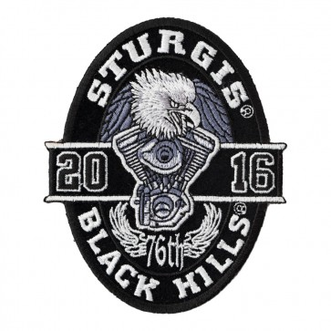 2016 Sturgis Black Hills Rally Oval Eagle Event Patch