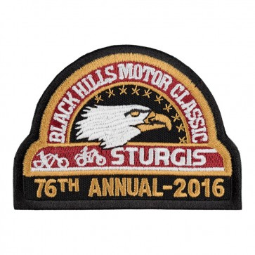 2016 76th Anniversary Sturgis Official Black Hills Motor Classic Eagle Iron On Event Patch