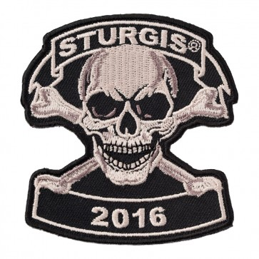 2016 Sturgis Motorcycle Rally Tan Skull & Crossbones 76th Anniversary Event Patch
