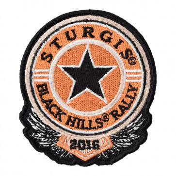 2016 Sturgis Black Hills Rally Sheriff Star Embroidered Event Patch