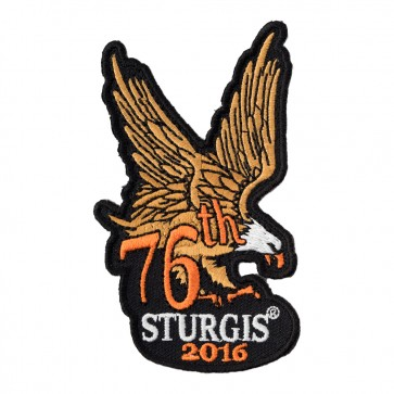 2016 Sturgis 76th Annual Motorcycle Rally Brown & Orange Eagle Event Patch
