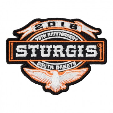 2016 Sturgis 76th Annual Motorcycle Rally Eagle & Banner Event Patch