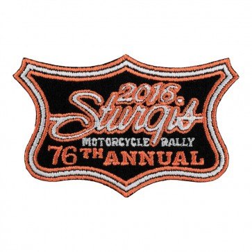 2016 Sturgis Motorcycle Rally 76th Annual Crest Iron On Event Patch