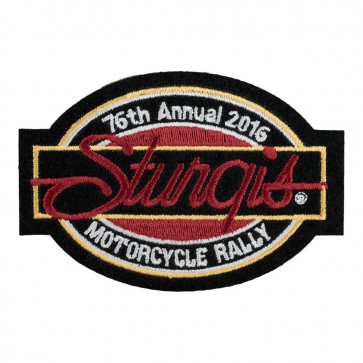 Embroidered 2016 Sturgis Motorcycle Rally 76th Annual Bar & Oval Event Patch