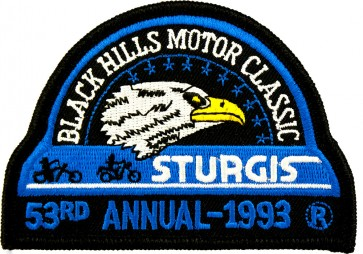 53rd 1993 Sturgis Motorcycle Rally Official Past Year Event Patches