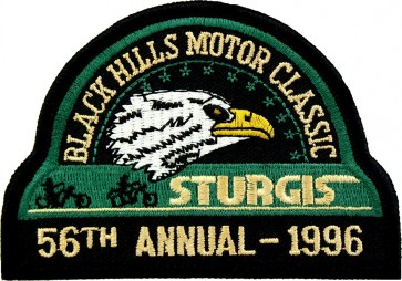 56th 1996 Sturgis Motorcycle Rally Official Past Year Event Patches
