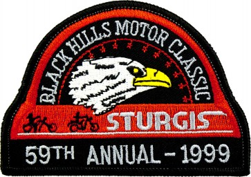 59th 1999 Sturgis Motorcycle Rally Official Past Year Event Patches