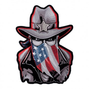 Subdued Western Sheriff American Flag Sew On Patch for Sale