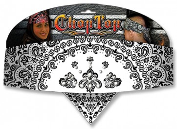 White Girlfriend Paisley & Rhinestone Studded Chop Top Bandana