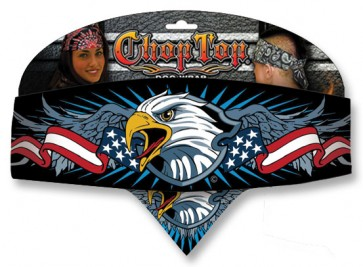 Red White & Blue Patriotic Eagle Chop Top Bandana