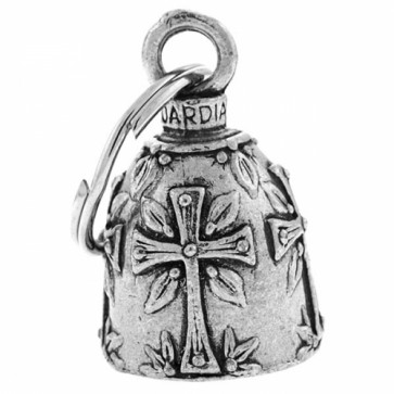 Pewter Holy Cross Christian Guardian Bell