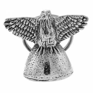Pewter Winged Eagle Motorcycle Guardian Bell