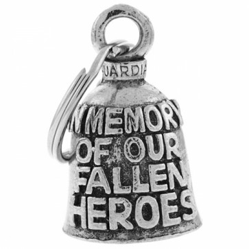 In Memory Of Fallen Heroes Pewter Guardian Bell