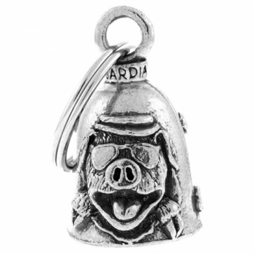 Biker Pig With Glassed And Snouts Guardian Bell