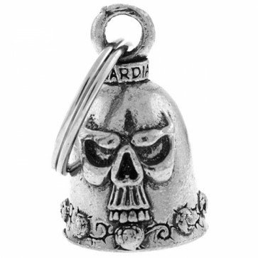 Skull And Roses Thorny Pewter Guardian Bell