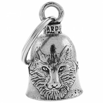 Wolf Head & Feathers Pewter Guardian Biker Bell