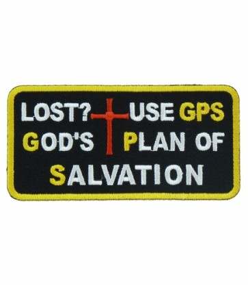 God's Plan of Salvation GPS Patch, Christian Patches