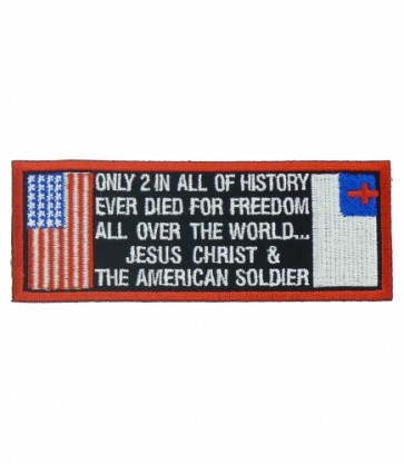 Jesus Christ & American Soldier Patch, Christian Patches
