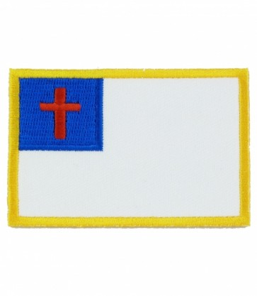 Christian Flag Patch, Christian Biker Patches
