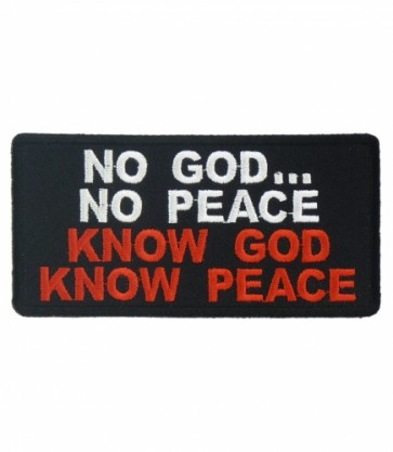 Know God Know Peace Patch, Religious Patches