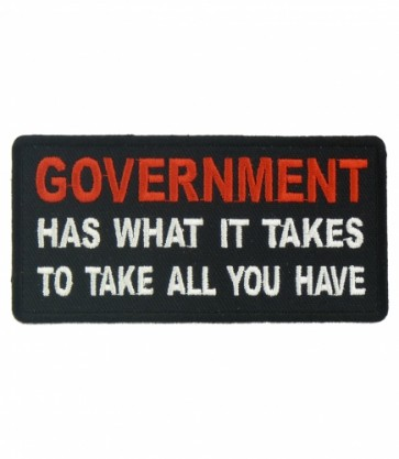 Government Take All You Have Patch, Political Patches