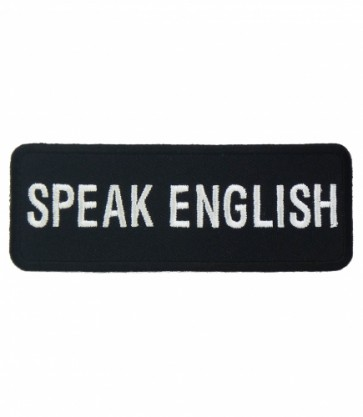 Speak English Patch, Patriotic Speak English Patches