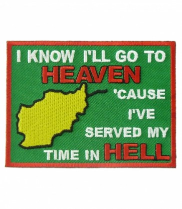 I'll Go To Heaven Afghanistan Patch, Military Veteran Patches