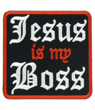 Jesus Is My Boss Patch, Christian Patches