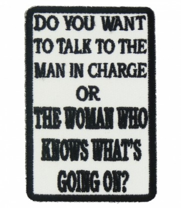 Woman Who Knows What's Going On Patch, Ladies Patches