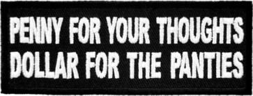Penny For Your Thoughts Patch, Funny Patches
