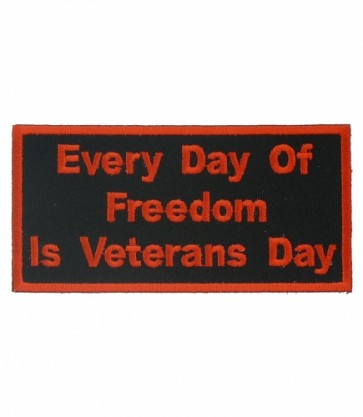 Every Day Is Veterans Day Patch, Veteran Patches