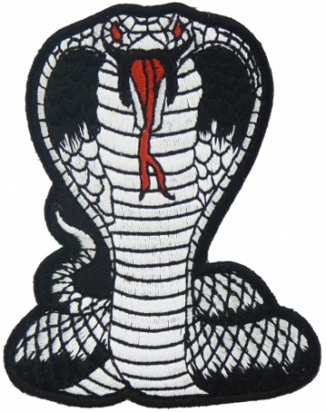 Cobra Black & White Patch, Snake Patches