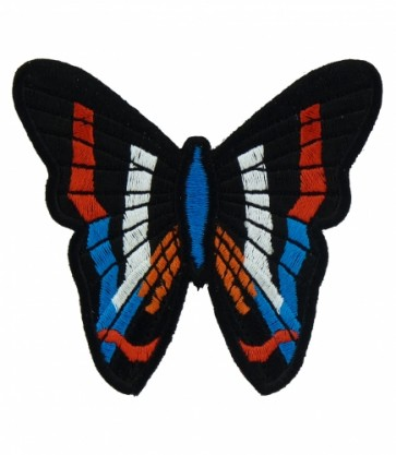 Red, White & Blue Butterfly Patch, Butterfly Patches