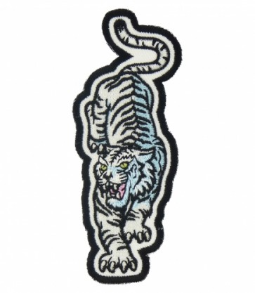 Walking White Tiger Patch, Tiger & Animal Patches