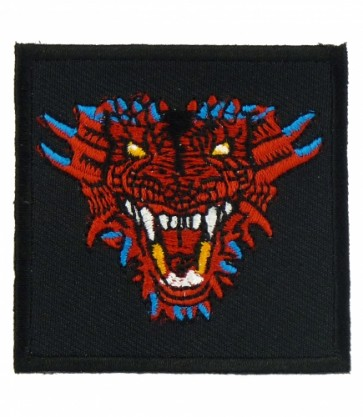 Red Dragon Head Patch, Dragon Patches